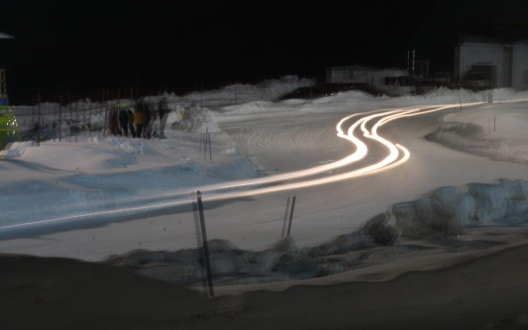 Espectáculo nocturno sobre la nieve de Andorra