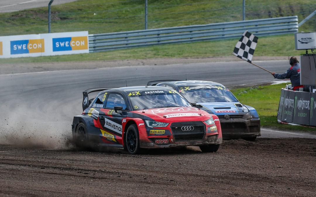 Kristoffersson y Ekström triunfan en el Rallycross de Suecia