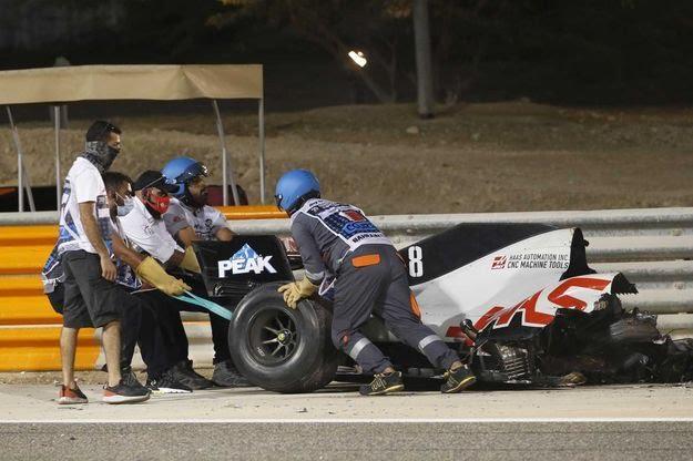 Grosjean accidente