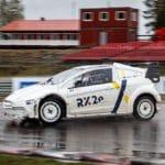 Pepe Arqué prueba el coche de rallycross del RX2e en Höljes